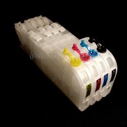 Перезаправляемые картриджи (ПЗК/ДЗК) для Brother MFC-J3930DW, MFC-J3530DW (LC3617, LC3619XL), увеличенный размер, с одноразовыми чипами, комплект 4 цвета