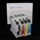 Перезаправляемые картриджи (ПЗК) для Brother MFC-J2510, MFC-J2310, MFC-J3720, MFC-J3520 (LC563/LC565/LC567) с авто-чипами, набор 4 шт., стандартный объем