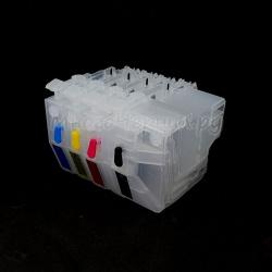 Перезаправляемые картриджи ПЗК для Brother MFC-J2330DW, MFC-J2730DW, MFC-J3530DW, MFC-J3930DW (LC3617, LC3619, LC3717, LC3719 и других), без чипов, стандартный размер, комплект 4 цвета