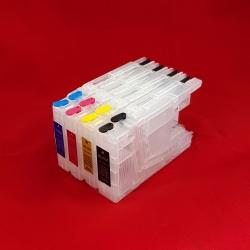 Перезаправляемые картриджи (ПЗК) для Brother MFC-J6510DW, MFC-J6910DW, MFC-J5910DW, MFC-J825DW, DCP-J525W, MFC-J430W, MFC-J650DW (LC1240/LC1280/LC-1240/LC-1280, LC71) набор 4 шт