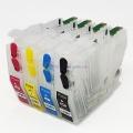 Перезаправляемые картриджи ПЗК для Brother MFC-J2330DW, MFC-J2730DW, MFC-J3530DW, MFC-J3930DW (замена LC3617), с одноразовыми чипами, с узким чёрным картриджем, комплект 4 цвета
