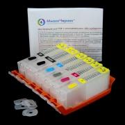 Перезаправляемые картриджи (ПЗК) для Canon PIXMA TS8040, TS8140, MG7140, MG7740, TS9140, TS8240, TS8340, iP8740, MG6340, MG7540, TS9040 (PGI-450, CLI-451, PGI-470, CLI-471, PGI-480, CLI-481), 6 штук, без чипов