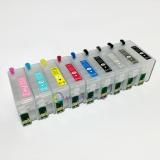 Картриджи для Epson SureColor SC-P600 перезаправляемые (ПЗК/ДЗК) с чипами, 9 x 25 мл