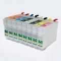 Перезаправляемые картриджи (ПЗК/ДЗК) для Epson SureColor SC-P400 (T3240-T3244, T3247-T3249) с авто-чипами, 8 штук