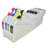 Перезаправляемые картриджи (ПЗК) для Brother MFC-J3520, MFC-J2310, MFC-J3720, MFC-J2510, MFC-J2320, MFC-J2720 (LC563, LC567X, LC663, LC665, LC667, LC669) Long (длинные), без чипов, набор 4 шт