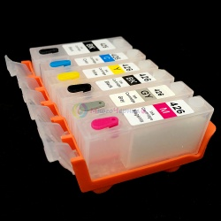 Перезаправляемые картриджи (ПЗК) для Canon PIXMA MG6240, MG6140, MG8240, MG8140 6 цветов, с авто чипами