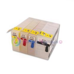 Перезаправляемые картриджи (ПЗК) для Canon MAXIFY MB2040, MB2140, MB2340, MB2740 (PGI-1400), комплект 4 цвета, с чипами
