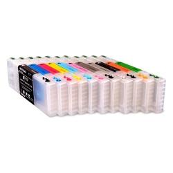 Перезаправляемые картриджи (ПЗК/ДЗК) для Epson SureColor SC-P5000 (T9131-T9139, T913A, T913B), с одноразовыми чипами, комплект 11 цветов