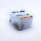 Перезаправляемые картриджи (ПЗК) для Epson Workforce WF-7610, WF-7620, WF-3620, WF-7110, WF-3640, совместимых с картриджами T2521, T2522, T2523, T2524, с автоматически обнуляемыми чипами