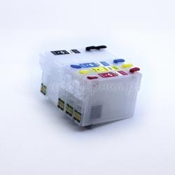 Перезаправляемые картриджи (ПЗК) для Epson Workforce, совместимых с картриджами T2521, T2522, T2523, T2524, с автоматически обнуляемыми чипами