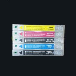 Перезаправляемые картриджи (ПЗК/ДЗК) для Epson Stylus Pro 7700 и 9700 (под картриджи T6361-T6364, T6368), с чипами, комплект 5 цветов по 700 мл