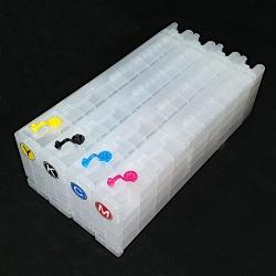 Перезаправляемые картриджи (ПЗК/ДЗК) для Epson SureColor SC-F2000, SC-F2100 (4-цветные модели), с чипами, комплект 4 цвета