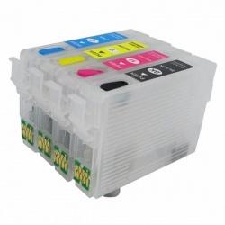Перезаправляемые картриджи (ПЗК/ДЗК) для Epson Expression Home XP-342, XP-332, XP-442, XP-432, XP-335, XP-435, XP-345, XP-247, XP-245, XP-235, XP-445, XP-255, XP-352, XP-355, XP-257, XP-452, XP-455 (T2991-T2994, 29, 29XL), с авто чипами, комплект 4 цвета