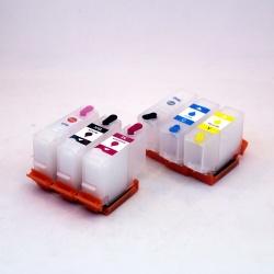 Перезаправляемые картриджи (ПЗК/ДЗК) для Epson Expression Photo HD XP-15000 (T3781-T3784 / T3791-T3794, T04F5-T04F6), с АВТО чипами, комплект 6 цветов