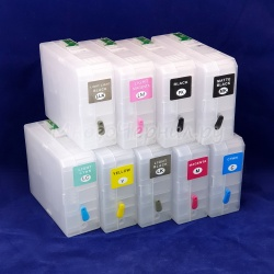 Картриджи для Epson SureColor SC-P800 перезаправляемые (ПЗК/ДЗК) с чипами, 9 x 80 мл