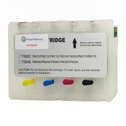 Картриджи (ПЗК) для Epson PictureMate PM270, PM310, PM250, PM210, PM215, PM235, PM245 (T5852) перезаправляемые, с чипами (4 цвета)