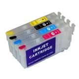 Перезаправляемые картриджи (ПЗК) для Epson WorkForce Pro WF-4720, WF-4725DWF, WF-4740, WF-4730, WF-4730, WF-4734, EC-4020, EC-4030, EC-4040 (совм. T802), 4 цвета, с чипами