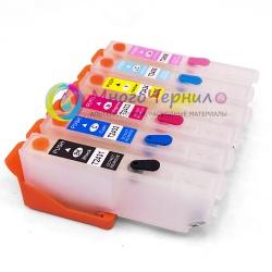Перезаправляемые картриджи (ПЗК) для Epson Expression Photo XP-55, XP-960, XP-860, XP-750, XP-760, XP-950, XP-850, 6 цветов с чипами (под оригиналы T24, Европа)