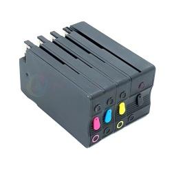 Перезаправляемые картриджи (ПЗК/ДЗК) для HP OfficeJet Pro 8210, 8710, 7740, 7720, 7730, 8720, 8730, 8725, 8218, 8715, 8740 (совм. HP953/957), с авто чипами, комплект 4 цвета