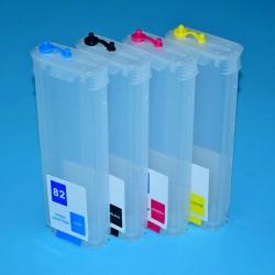 Перезаправляемые картриджи (ПЗК/ДЗК) для HP Designjet 500 (plus), 800, 500PS, 800PS, 815, 820, с чипами (совм. HP10, HP82), 4 x 260 мл