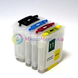 Перезаправляемые картриджи (ПЗК) для HP Designjet 100, 110, 70, Business inkjet 2800, 1200, 1000, 2200, 2600, Officejet Pro k850, Color InkJet CP1700 (картриджи HP10 и HP11)