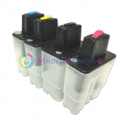 Перезаправляемые картриджи (ПЗК) для Brother DCP-110C, DCP-115C, DCP-117C, DCP-120C, DCP-310CN, DCP-315CN, DCP-340CW, FAX-1840C, FAX-1940CN, FAX-2440C,  (LC900/LC950) 4 шт