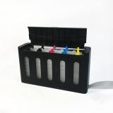 Красивые ёмкости-доноры для СНПЧ к Epson, Canon, HP на 5-4 цветов, черный корпус, 5 x 70 мл