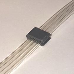 Микроклипса (уменьшенный зажим) для чернильного шлейфа СНПЧ (до 4 каналов, компактный размер)