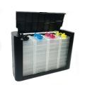 Красивые емкости-доноры для СНПЧ на 4 цвета (со встроенными демпферами), черный корпус, 4 x 70 мл