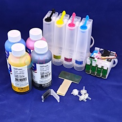 Набор СНПЧ + чернила InkTec по 100 мл для Epson Expression Home XP-103, XP-303, XP-207, XP-203, XP-406, XP-306, XP-33, XP-403, XP-313, XP-413, XP-423, XP-323 (картриджи T1711-T1714, 17, 17XL), с авто чипами 4 цвета