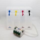 СНПЧ для Epson Stylus SX230, SX235W, SX430W, SX420W, SX425W, SX435W, SX535WD, SX525WD, SX440W, SX445W, Office BX305FW, BX320FW, BX635FWD, BX625FWD, WorkForce WF-3010DW, WF-3520DWF, WF-3530DTWF (T1291-T1294), 4 цвета, с чипами, с донорами Big Size 350 мл