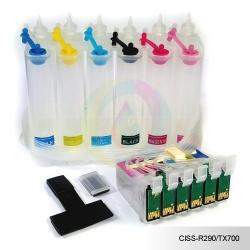 СНПЧ для Epson Stylus Photo T50, R270, TX650, TX659, R290, RX610, R390, R295, RX590, T59, TX800FW, RX690, RX615 (T0821-T0826), 6 цветов, с чипами