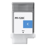 Картридж для Canon imagePROGRAF TM-200, TM-205, TM-300, TM-305 (PFI-120C), совместимый, голубой Cyan, 130 мл