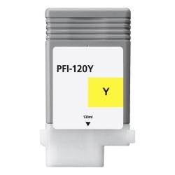 Картридж для Canon imagePROGRAF TM-200, TM-205, TM-300, TM-305 (PFI-120Y), совместимый, жёлтый Yellow, 130 мл