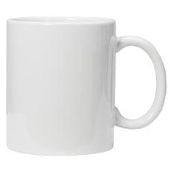 Кружка для сублимации керамическая, белая, 330 мл.