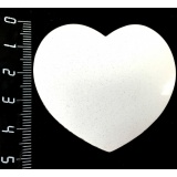 Магнит в форме сердца, диаметр 55 x 50 мм, для сублимации, 1 шт.