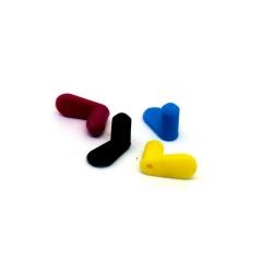 Заглушки для перезаправляемых картриджей ПЗК, комплект 4 цвета