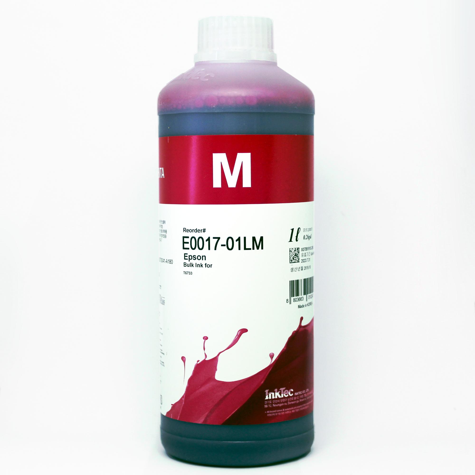 Чернила для L800, L805, L1800, L850, L810 (Epson Фабрика Печати / T6733), водорастворимые InkTec E0017-01LM, пурпурные Magenta, 1 литр по цене 1328 руб.