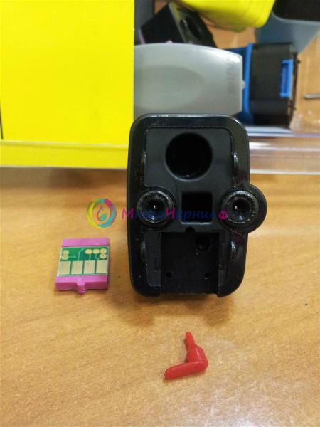 Перезаправляемые нано-картриджи для HP 177 в разборе