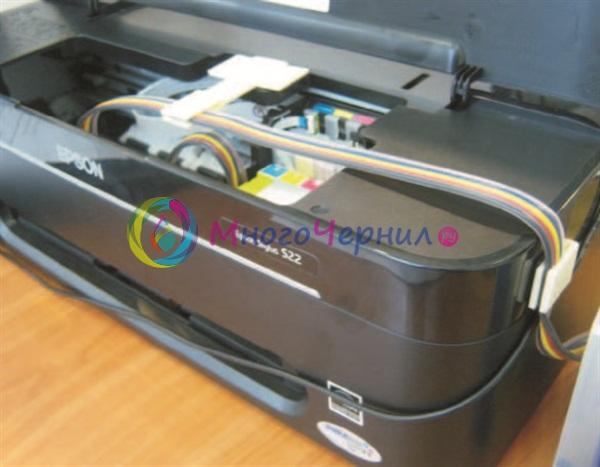 Прокладка шлейфа СНПЧ на Epson Stylus S22