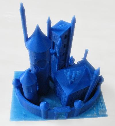 Модель из темно-синего ABS-пластика, изготовленная на 3D-принтере