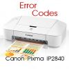 Коды ошибок Canon Pixma iP2840 и что означают мигания светодиодов