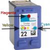 Как заправить цветной картридж HP 22 (C9352AE) для Deskjet F2180, F380, F4180, D2360, D2460, D1530, 3940, PSC 1410, Officejet J3680, 4355, 5610