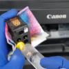 Промывка печатающих головок (картриджей) в Canon PIXMA G1400, G2400, G3400, G4400, G1410, G2410, G3410, G4410, G1411, G2411, G3411, G4411, G2415, G3415, G5040, G6040 – что делать если принтер не печатает