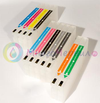 Перезаправляемые картриджи для широкоформатных принтеров Epson Pro