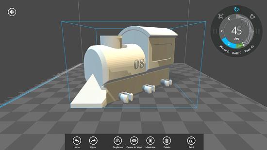 Рабочее окно программы Microsoft 3D Builder