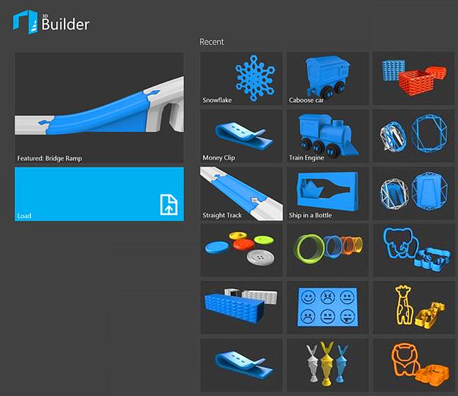 Библиотека 3D-моделей в Windows Microsoft 3D Builder