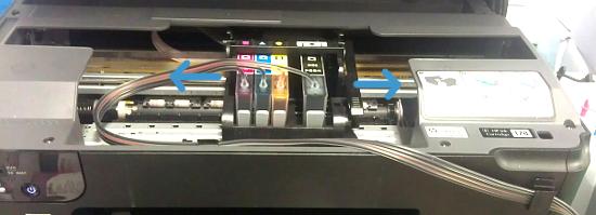 Проверьте достаточность длины шлейфа СНПЧ в принтере