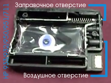 Картридж HP 711/950/951/933/932 в разрезе