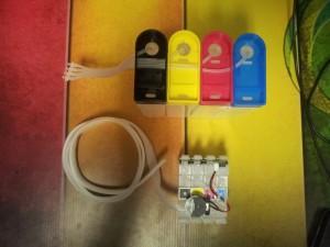 Донорные емкости и блок картриджей СНПЧ на Epson